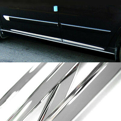 Chrome Side Skirt Door Line Sill Garnish Molding Trim Cover 4Pcs for CADILLAC