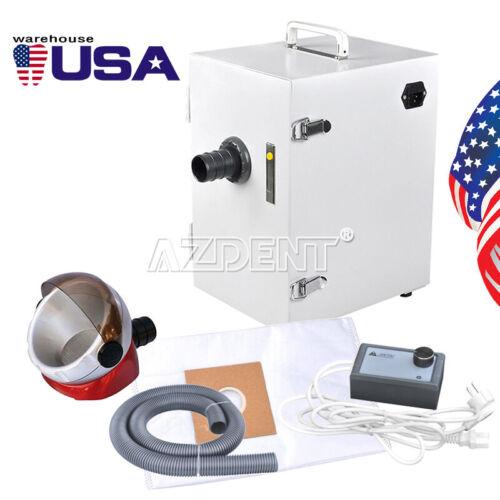 US Dental Portable Single-Row Dust Collector Vacuum Cleaner+Desktop Suction Base