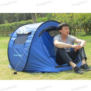 CAMPING HIKING lUXURY 2 MAN AUTO POP UP TENT QUICK INSTANT FAST PITCH WATERPROOF