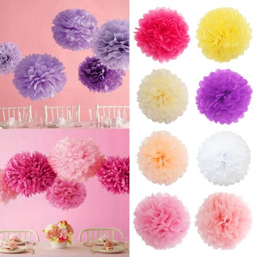 "5~200Pcs 6/"" Paper Tissue Pom Poms Flowers Wedding Party Home Paper Flower Ball"