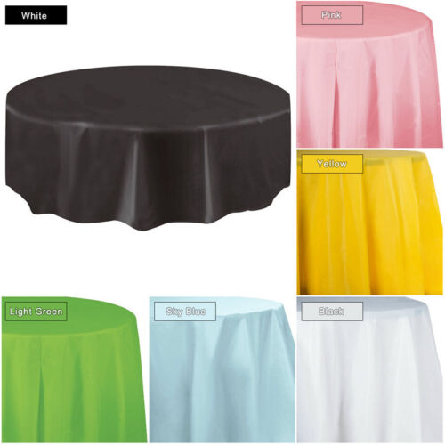 84 inch Round Tablecloth Table Cover for Banquet Wedding Par