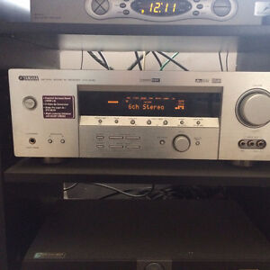 Yamaha 5750 6.1 surround sound receiver with Bose speakers