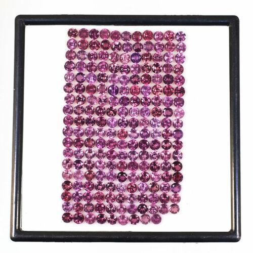 VVS 196 Pcs Natural Rhodolite Garnet 3.5mm Round Top Quality Dazzling Gemstones