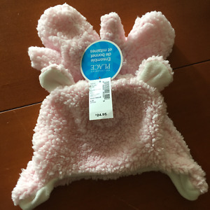 NEUF Ensemble Tuque mitaines roseChildren`s Place  L 4 -5