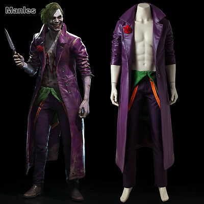 Classic Costume Cosplay Halloween Fancy Dress Game Clown Outfit Men Cool Jacket](Cool Clown Costume)
