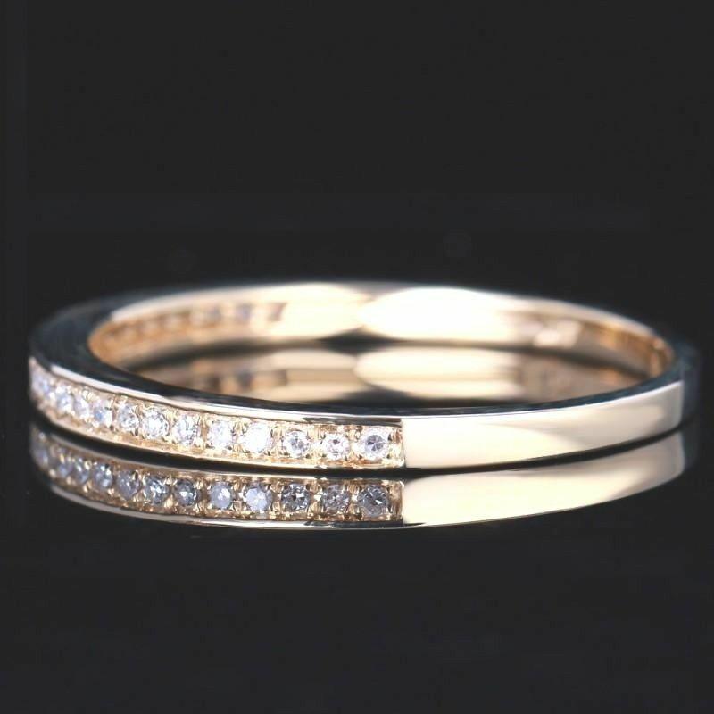 Wedding Band 1/5 Ct Natural Diamond Eternity Milgrain 14K Gold Anniversary Ring