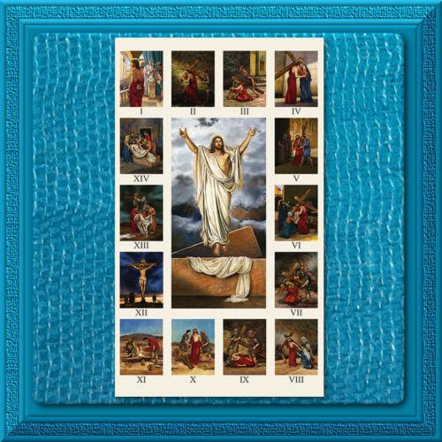 Catholic LARGE Holy Prayer Card ✝️ STATIONS OF THE CROSS ✝️