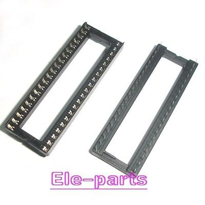 10 Pcs Dip-40 40 Pin 40pin Ic Sockets Adaptor Solder Type Wide