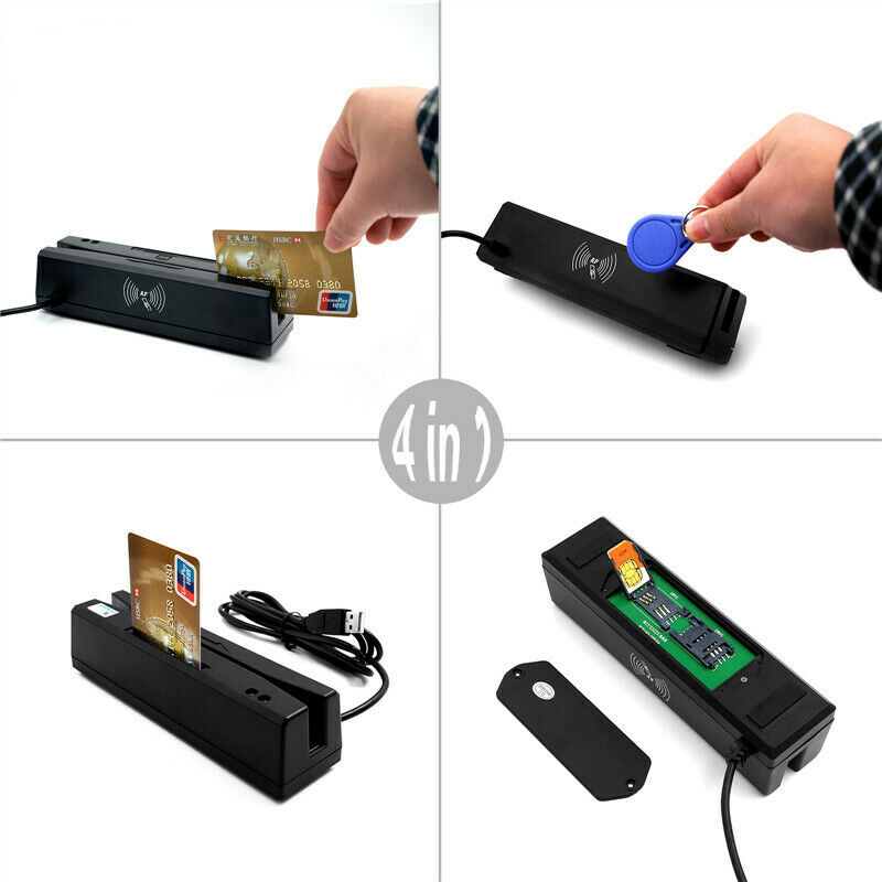 ZCS160 4 in 1 Magnetic Stripe Credit Card EMV IC Chip RFID PSAM Reader Writer