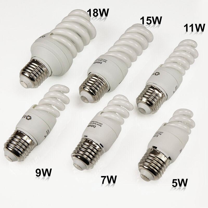 Energiesparlampe Spirale E27 Leuchtmittel Kaltweiss Lampe5W-32W Sparlampe