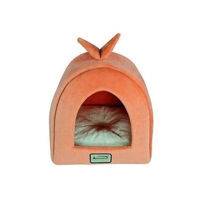 Armarkat Orange Ivory Soft Plush Velvet Cat Kitten Small Dog Bed House Igloo