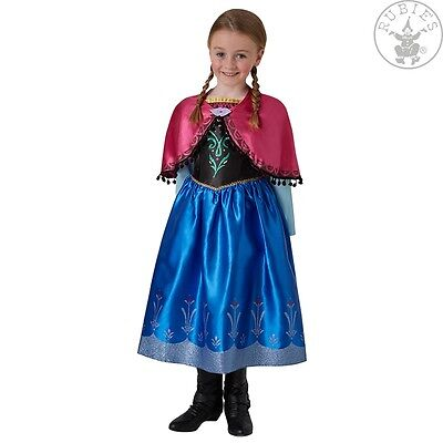 RUB 3630033 Disney Lizenz Kinder Kostüm Anna Frozen Deluxe Kleid Prinzessin