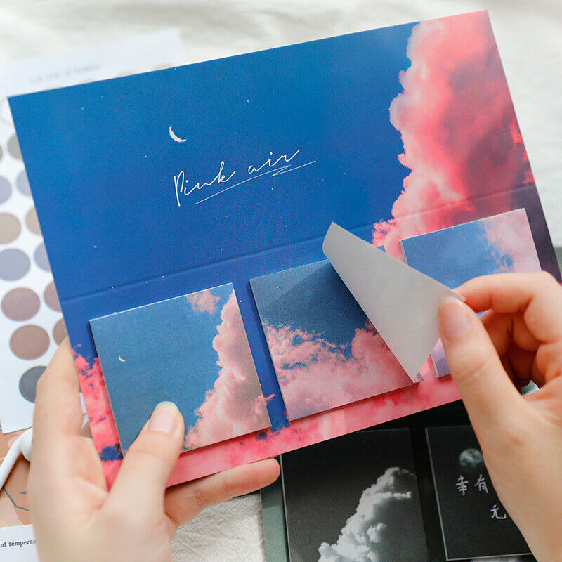 Moon Cloud Flower Sticky Notes Set Memo Pad Notepad Planner Stickers Stationery