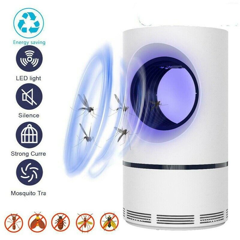 1 PCS Advanced Mosquito Exterminator – Suction Fan, No Zapper, Child Safe Lamp