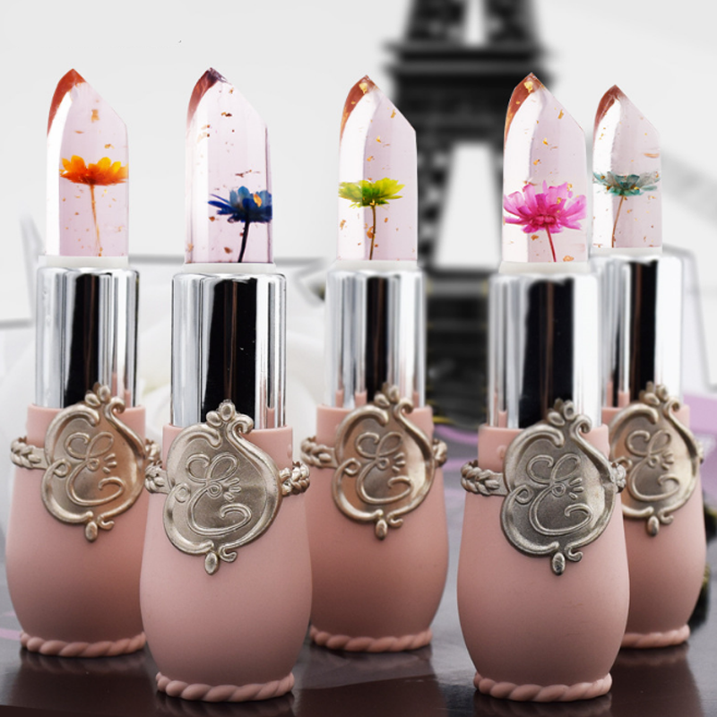 Flower Lipstick Color Jelly Transparent Magic Changing Lip Temperature Change Health & Beauty