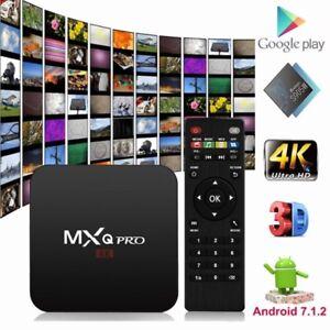 MXQ / MXQ Pro Amlogic S905W ANDROID 7.1.2 Kodi TV BOX BOITE IPTV