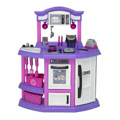 Play Set Kitchen Kids Pretend Cooking Toy Children Toddler Gift 22 Piece Baker