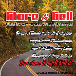 STORE & SELL:  The Easy Way to Sell Your Motorcycle