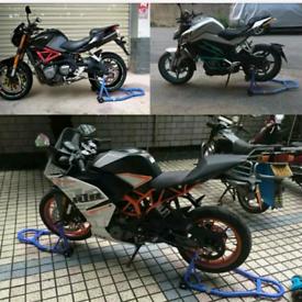 Front & Rear Motorcycle motorBike Paddock Stand Honda suzuki yamaha