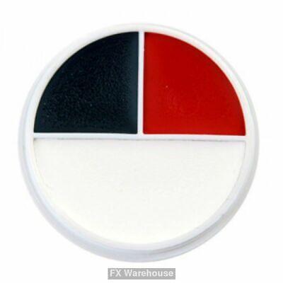 Ben Nye Red White Black Creme Makeup Wheel NEW Halloween Clowning Face Paint