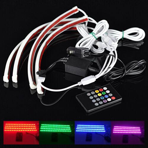 7 color rgb strip lights set wireless music control for car interior lighting re ebay. Black Bedroom Furniture Sets. Home Design Ideas