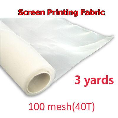 3 Yards 100 M 40t Silk Screen Printing Mesh Fabric White Screen Mesh