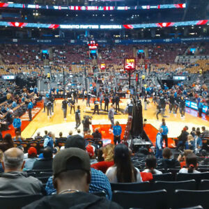 CHEAP Lower Bowl Raptors Tickets,  Row 12, vs. Pistons