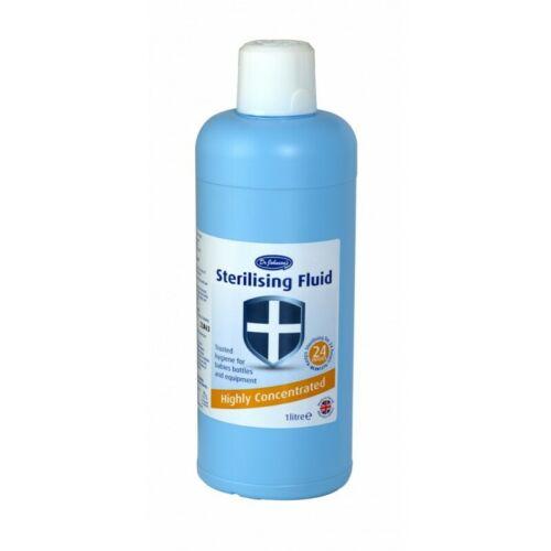 Dr Johnsons Sterilising Fluid 1 Litre. Baby & Home Disinfectant. 24h Sterilising