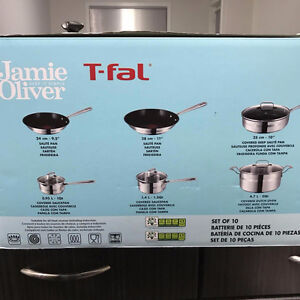 Jamie Oliver by T-Fal 10-piece Cookware Set Pot and Pans Regina Regina Area image 3