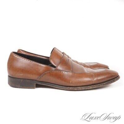 Ermenegildo Zegna Napoli Couture XXX Ravello Brown Leather Loafers Shoes 10.5 EE