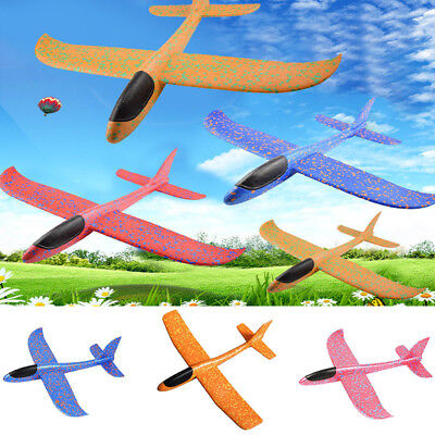 H3E# EPP Foam Hand Throw Airplane Aircraft Model Launch Glider Plane Kids Toys - Foam Gliders