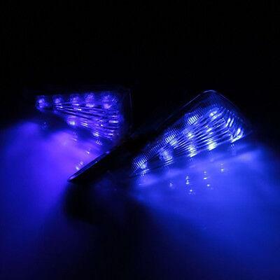 2Pcs Motorcycle Bike Led Turn Signals Blinker Lights Indicator Universal Blue Us