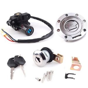 Ignition Switch Seat Gas Cap Cover Lock Key Set F Yamaha 2006-2012 YZF R1 R6 R6S