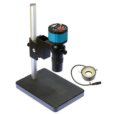 Digital Vga Av Tv Industry Lab Microscope Camera C Lens Led Light Source Stand