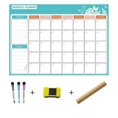 Magnetic Dry Erase Calendar For 3 Fine Fridge Tip Markers Eraser With Whiteboard
