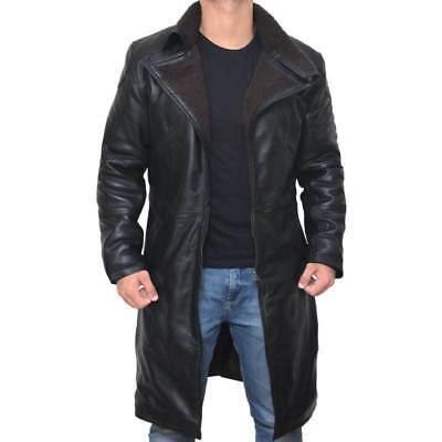 Blade Runner 2049 Ryan Gosling (Officer K) Fur Lapel Collar Trench Leather Coat -