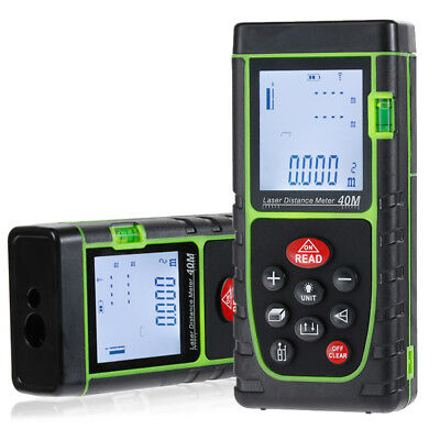 Handheld Digital Laser Point Distance Meter Measure Tape Range Finder 40m131ft