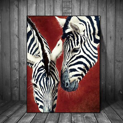 Canvas painting zebra print animal abstract wall pictures for living room - Zebra Print Decorations