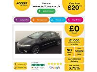 HONDA CIVIC 1.4 1.6 1.8 2.2 I-VTEC ES-T SI TI SE 2.2i-CTD FROM £20 PER WEEK!