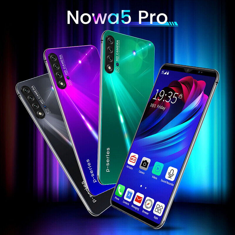 6.1'' inch Full Drop Screen Nova 5 Pro Mobile Smart Phone Fa