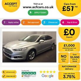 FORD MONDEO SILVER 2.0 TDCI 150 TITANIUM DIESEL FROM £57 PER WEEK!