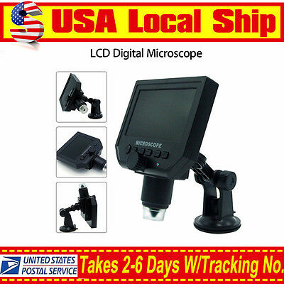 Lcd 1-600x 4.3 Hd 3.6mp Digital Microscope Magnification Video Camera Magnifier