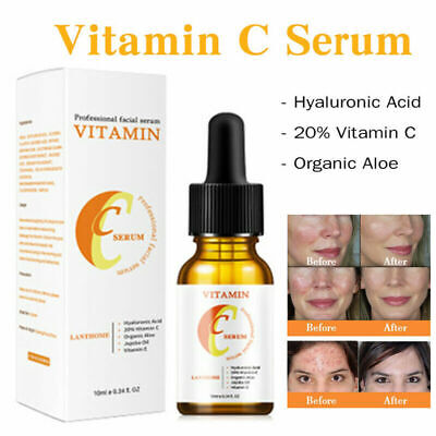 20% Vitamin C & E Face Serum +Hyaluronic Acid Organic Aloe Anti...