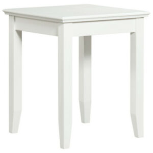 Casey Contemporary Square End Table - White New in Box​