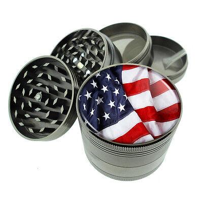 ( American Flag D13 Titanium Grinder 4 Piece Magnetic Hand Mueller)