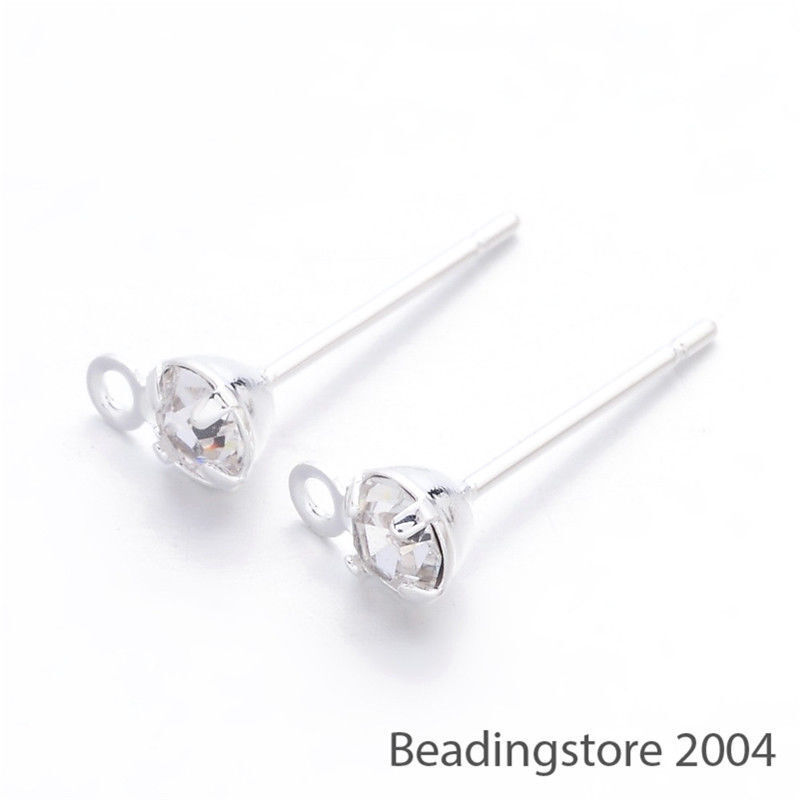 5pcs Platinum Plated Brass Ice Pick and Pendants Pinch Bails Craft Findings24mm