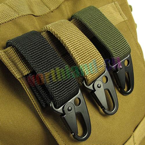Tactical Molle Bag Hanging Belt Carabiner Hooks Metal Webbin