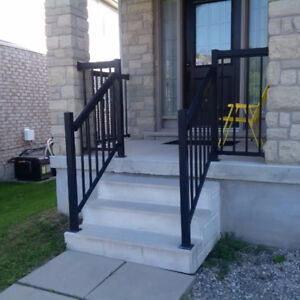 Aluminum handrail and siderail kit for porch and stairs