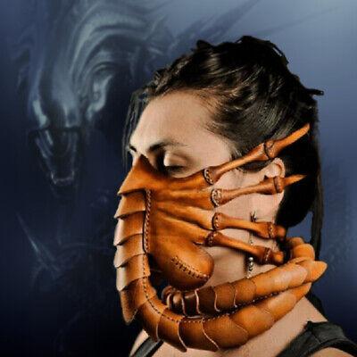 y Horror Gesichtsmaske Scorpion Alien Facehugger Latex Maske (Alien Maske)