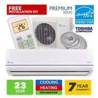 2015 Mini Spit Air Conditioner with Heat Pump / -20°C